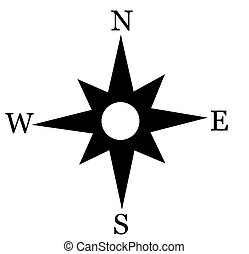 Compass card - Illustration of a wind rose (compass card)