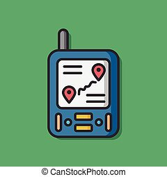 compass cellphone vector icon