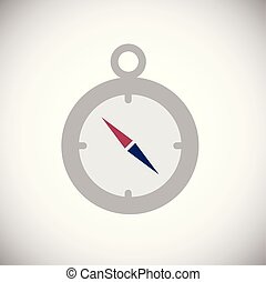 Compass color flat icon on white background