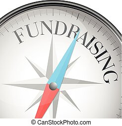 compass concept Fundraising - detailed illustration of a...