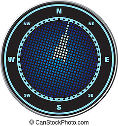 Compass digital display - Wind rose compass digital display...