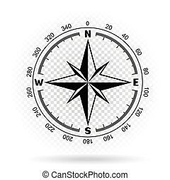 compass directions transparent background