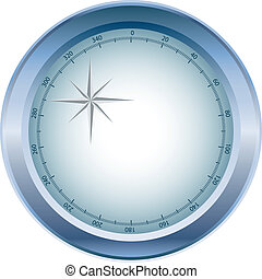 Compass display in blue