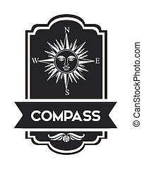 compass emblem design
