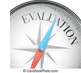compass evaluation - detailed illustration of a compass with...
