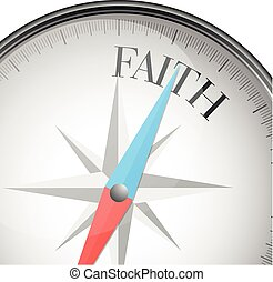 compass faith - detailed illustration of a compass with ...