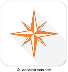 compass flat icon