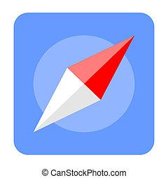 Compass Flat Style Icon Symbol