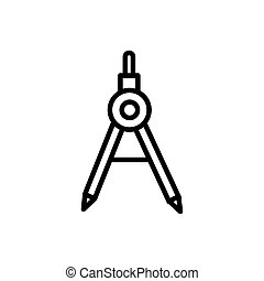 compass geometry tool architecture icon line style