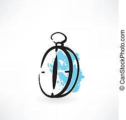 compass grunge icon