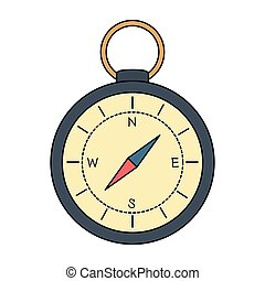 compass guide isolated icon