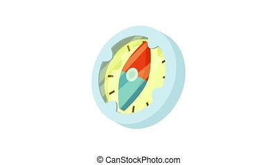 Compass icon animation best object on white background