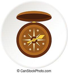 Compass icon circle