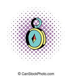 Compass icon, comics style