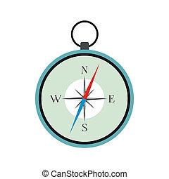 Compass icon flat