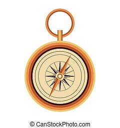 compass icon image, flat design