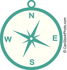compass icon isolate on white background