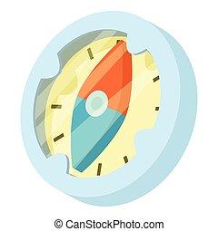 Compass icon, isometric style