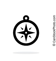 Compass icon. Navigation icon on white background.