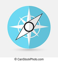 Compass Icon on a white background