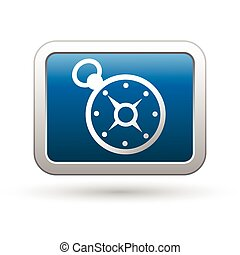 Compass icon on the blue button
