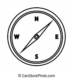 Compass icon, outline style