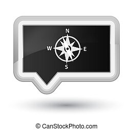 Compass icon prime black banner button