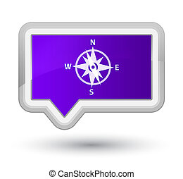 Compass icon prime purple banner button