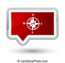 Compass icon prime red banner button