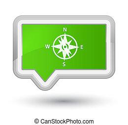 Compass icon prime soft green banner button
