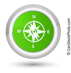 Compass icon prime soft green round button