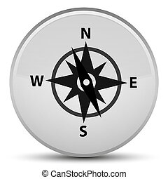 Compass icon special white round button