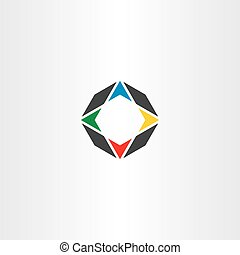compass icon vector symbol element logo