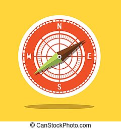 Compass Icon - Wind Rose Symbol
