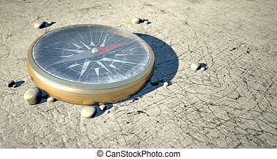Compass In The Desert