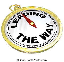 Compass - Leading the Way with Leadership of Group - A gold...