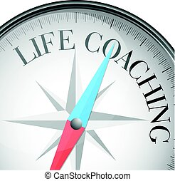compass Life Coaching - detailed illustration of a compass...