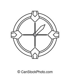 compass location gps tool travel thin line