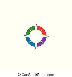 Compass logo design,