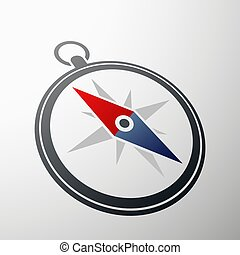 Compass logo. Stock illustration. - Compass logo in style...