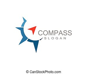 Compass Logo Template vector