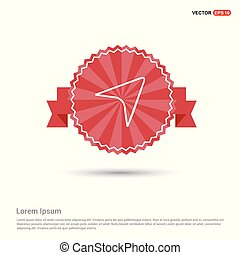 Compass navigation icon - Red Ribbon banner