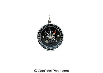 Compass on isolated white background