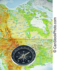 Compass On Map Stock Photos Search Photographs And Clip Art - Usa map with compass