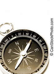 Compass on plain background. Copy space