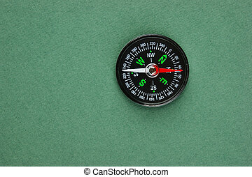 compass on the green background