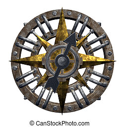 compass on white background - 3d illustration