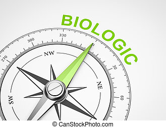 Compass on White Background, Biologic Concept