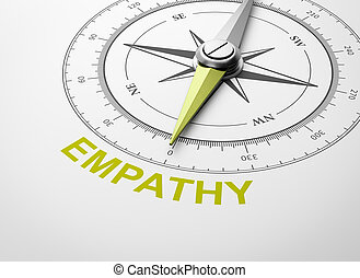 Compass on White Background, Empathy Concept