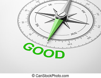 Compass on White Background, Good Concept